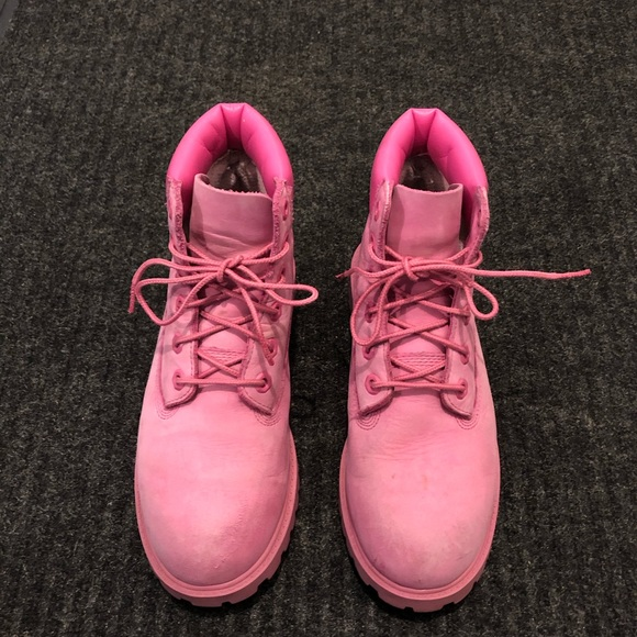 Women's spink Timberland Boots size 5